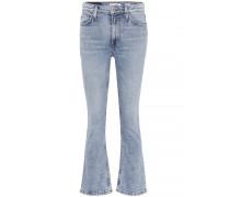 Mid-Rise Kick Flare Jeans aus Baumwolle