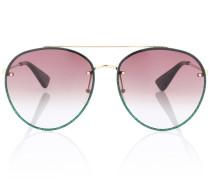 Aviator-Sonnenbrille mit Glitter