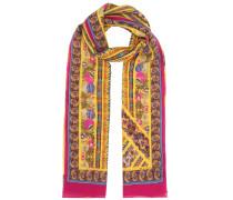 Bedruckter Schal aus Seidencrêpe