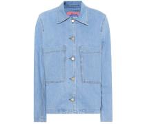 Blå Konst Jeansjacke