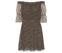 Off-Shoulder-Kleid aus Schurwolle
