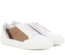 Sneakers Salmond aus Leder und Canvas