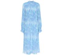 Bedrucktes Kleid aus Georgette