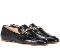 Loafers aus strukturiertem Leder