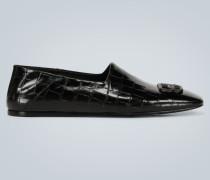 Geprägte Leder-Loafers Cosy BB