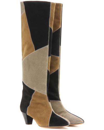 Stiefel Étoile Ross aus Veloursleder
