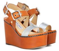 Wedge-Sandalen Alton 100 aus Leder