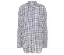 Karierte Oversize-Bluse aus Baumwolle
