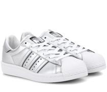 Sneakers Superstar Boost aus Metallic-Lederimitat