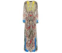 Bedruckte Robe aus Seide