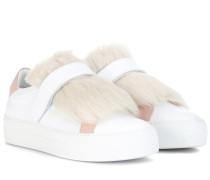 Sneakers Victoire aus Leder mit Lammfell
