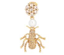 Clip-Ohrringe mit Kristallen und Perlen