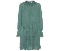 Kleid aus Crêpe mit Lochstickerei