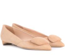 Ballerinas Aga aus Veloursleder