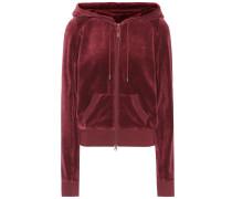 Pullover aus Stretch-Velours