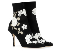 Bestickte Ankle Boots
