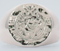 Ring Silk Coin aus Sterlingsilber