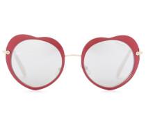 Sonnenbrille mit Herzrahmen