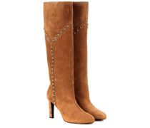 Kniehohe Stiefel Grace 105 aus Veloursleder