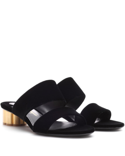 Salvatore Ferragamo Damen Sandalen aus Samt Fälschen Zum Verkauf Freie Versandpreise Mode-Stil Günstiger Preis Vorbestellung Billig Verkauf Suchen FECbamyIX