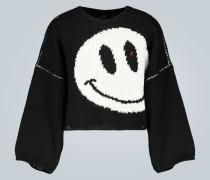 Verkürzter Pullover aus Wolle