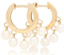 Ohrringe aus 14kt Gelbgold mit Perlen
