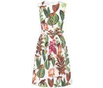 Bedrucktes Kleid aus Seide und Baumwolle