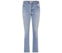 High-Waist Jeans Butt Rip