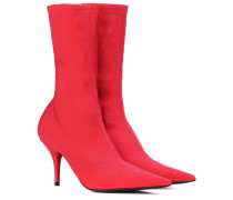 Ankle Boots Knife aus Stretch-Jersey