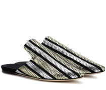 Gestreifte Slippers