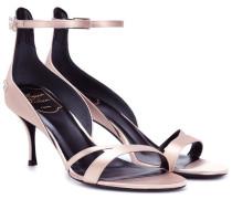 Sandalen aus Seidensatin