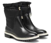 Ankle Boots Bao Flat aus Leder