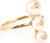 Ring Ménage à Trois aus 9kt Gelbgold