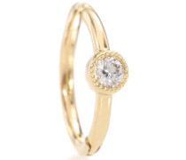 Ohrring Diamond Scalloped Clicker aus 18kt Gold