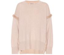 Pullover mit Nerzpelz aus Cashmere
