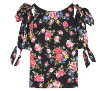 Off-Shoulder-Bluse aus Seide