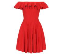 Alexander McQueen Geripptes Off-Shoulder-Kleid