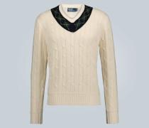 Pullover in Zopfstrickoptik