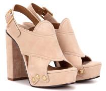 Sandaletten aus Veloursleder