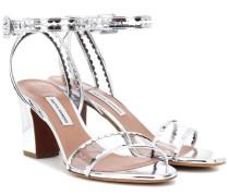 Sandalen Leticia Frill aus Metallic-Leder