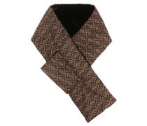 Bedruckter Schal aus Samt
