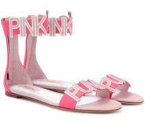 Sandalen Pink Is Punk aus Leder