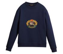 Besticktes Sweatshirt aus Jersey