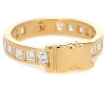Vergoldeter Ring Encrusted Unity aus Sterlingsilber