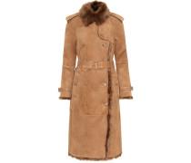 Mantel aus Lammleder mit Shearling