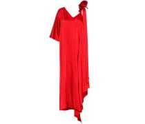 Asymmetrische Robe aus Satin