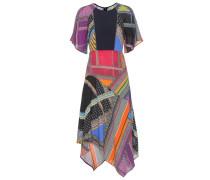 Kleid mit Volants aus Crêpe