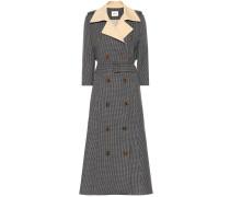 Karierter Tweed-Mantel Charlotte aus Wolle