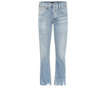High-Rise Cropped Jeans Emerson