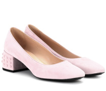 Pumps Gommino aus Veloursleder